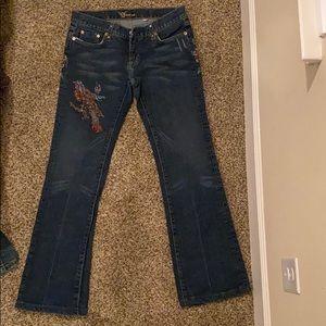 Bebe jeans with rhinestones